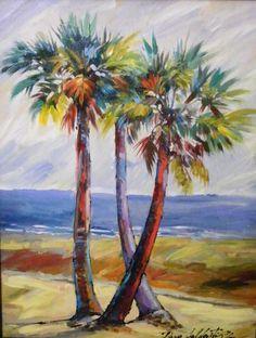 236x312 Wall Art, Tropical Island, Palm Tree Art, Seascape With Palm Tree