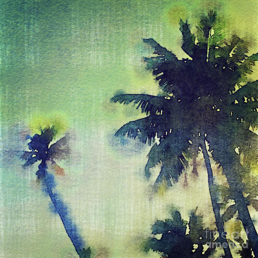 900x900 Watercolor Coconut Tree Tropical Vintage Palm Digital Art By