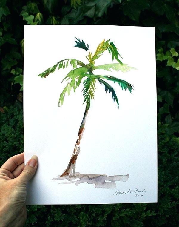 600x760 Palm Tree Watercolor Doha Mokdad