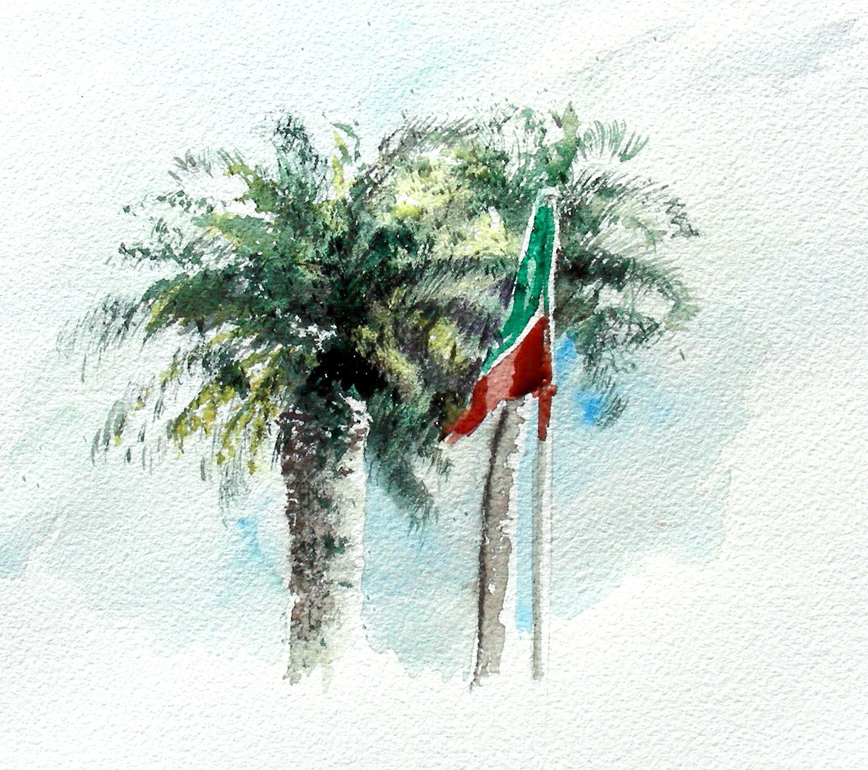 1704x1512 Watercolor Palms Recollections 54 The Art Of David Tripp