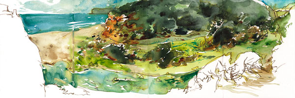 600x201 Urban Sketching A Panorama In Pen Amp Ink And Watercolor