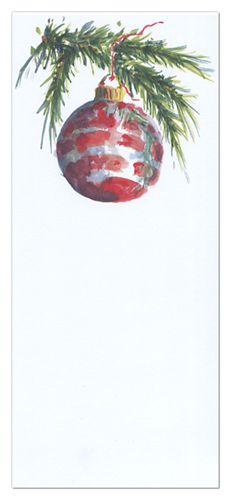 Watercolor Paper Christmas Ornaments