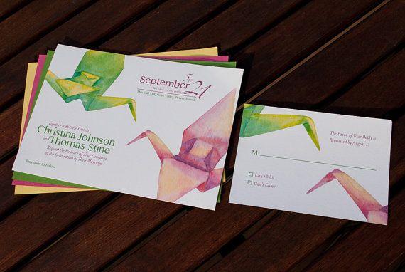 Watercolor Paper Invitations