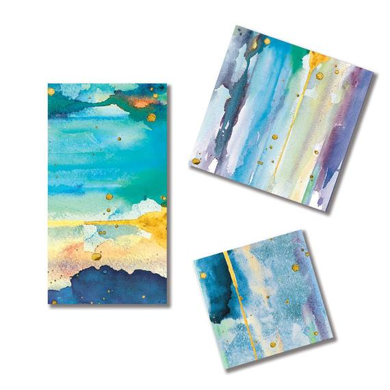 570x570 High Quality Blue Watercolor Party Napkins Contemporary Blue Etsy