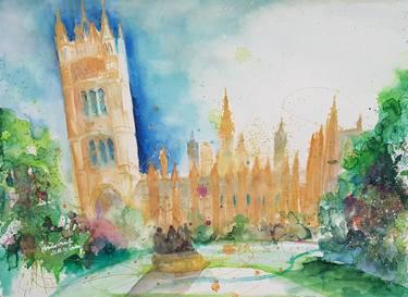375x273 Historic Westminster Abbey Park London (Plein Air Watercolor