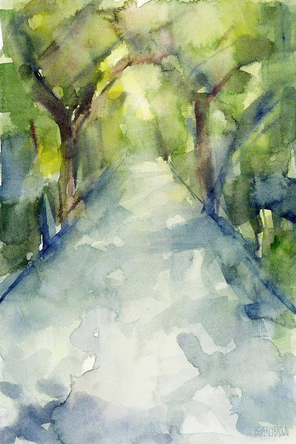 600x900 Path Conservatory Garden Central Park Watercolor Painting Painting