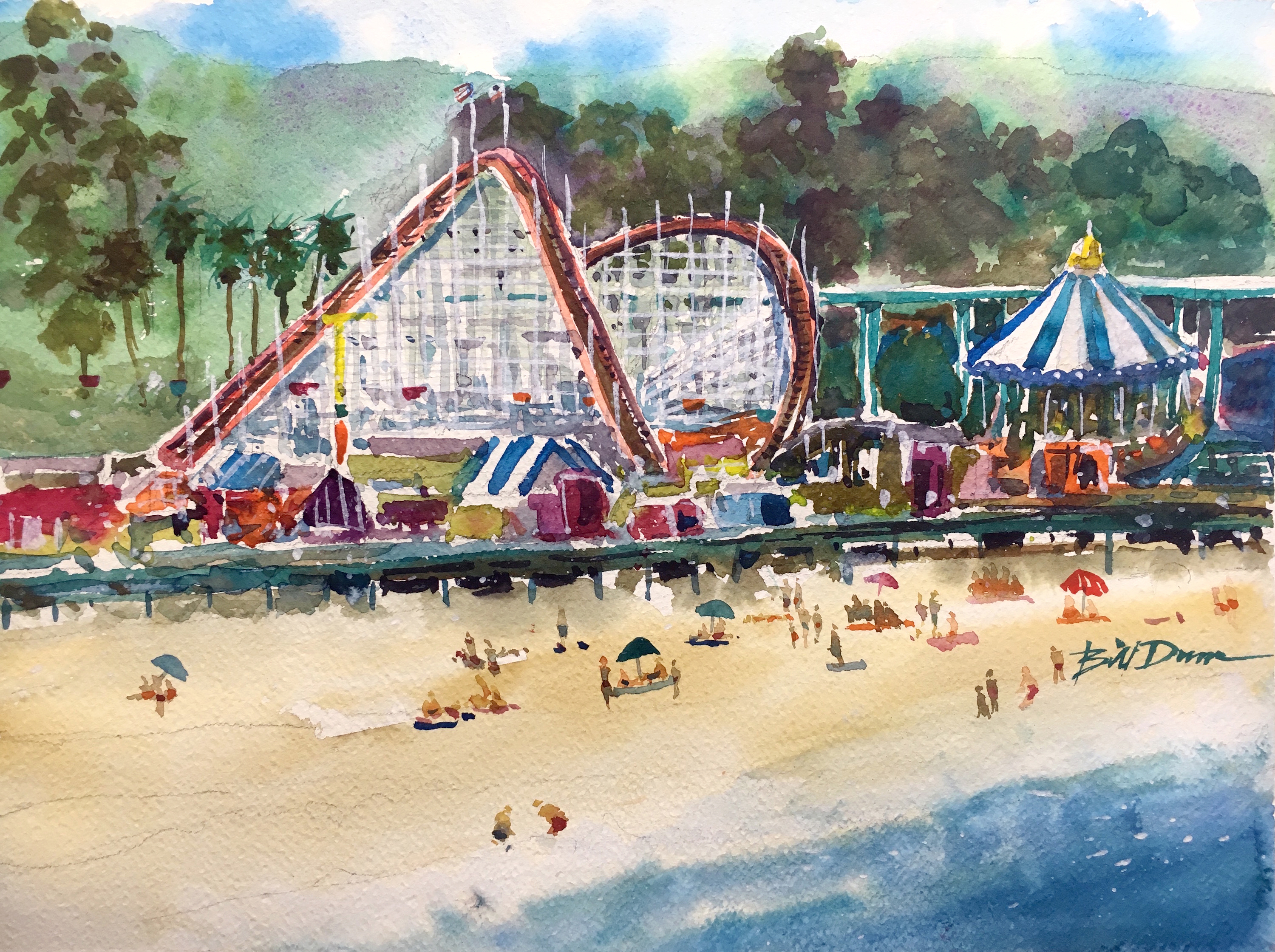3000x2241 Pro Tips On How To Paint A Colorful Theme Park By The Beach