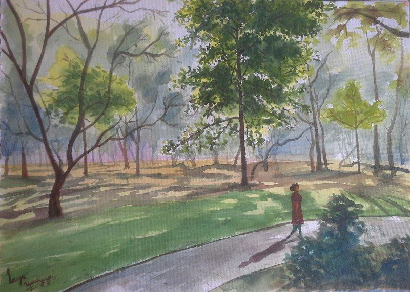 800x571 Strolling Through Cubbon Park By Artist Lasya Upadhyaya