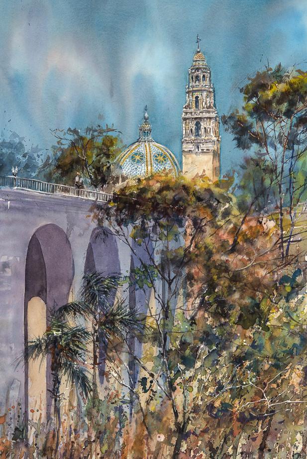 617x922 Cabrillo Bridge, Entrance To Balboa Park, San Diego. Original