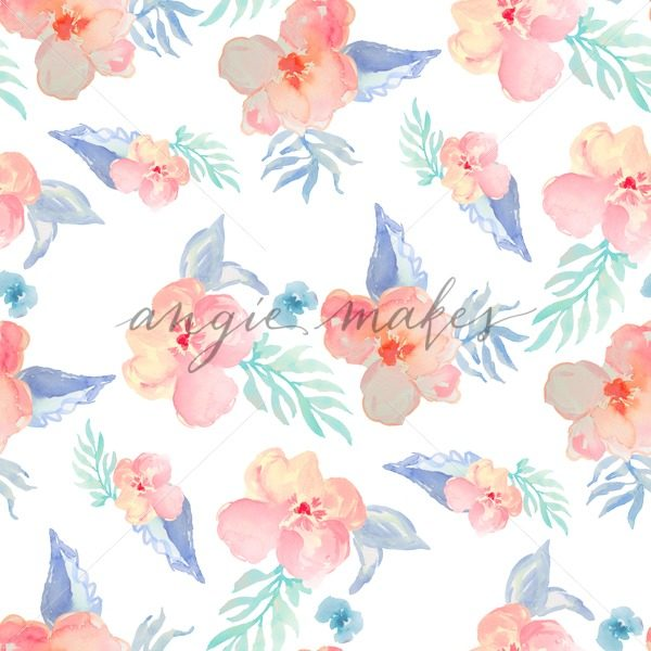 600x600 Tropical Watercolor Flower Wallpaper. Tropical Watercolor Flower