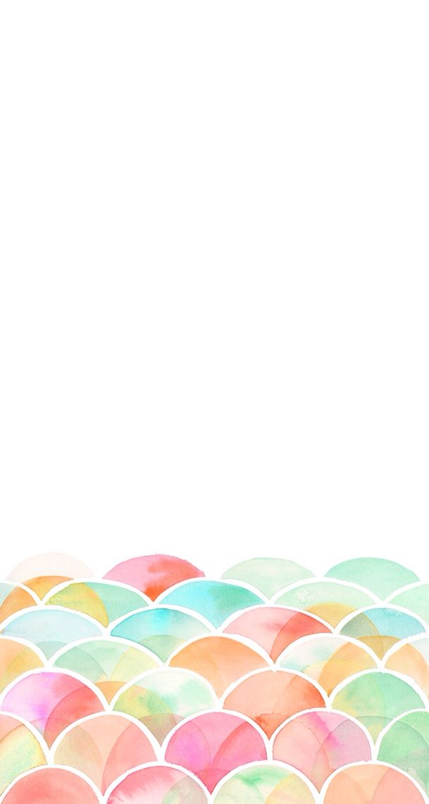 606x1136 Desktop Wallpaper Cute Simple Watercolor Pattern Wallpaper
