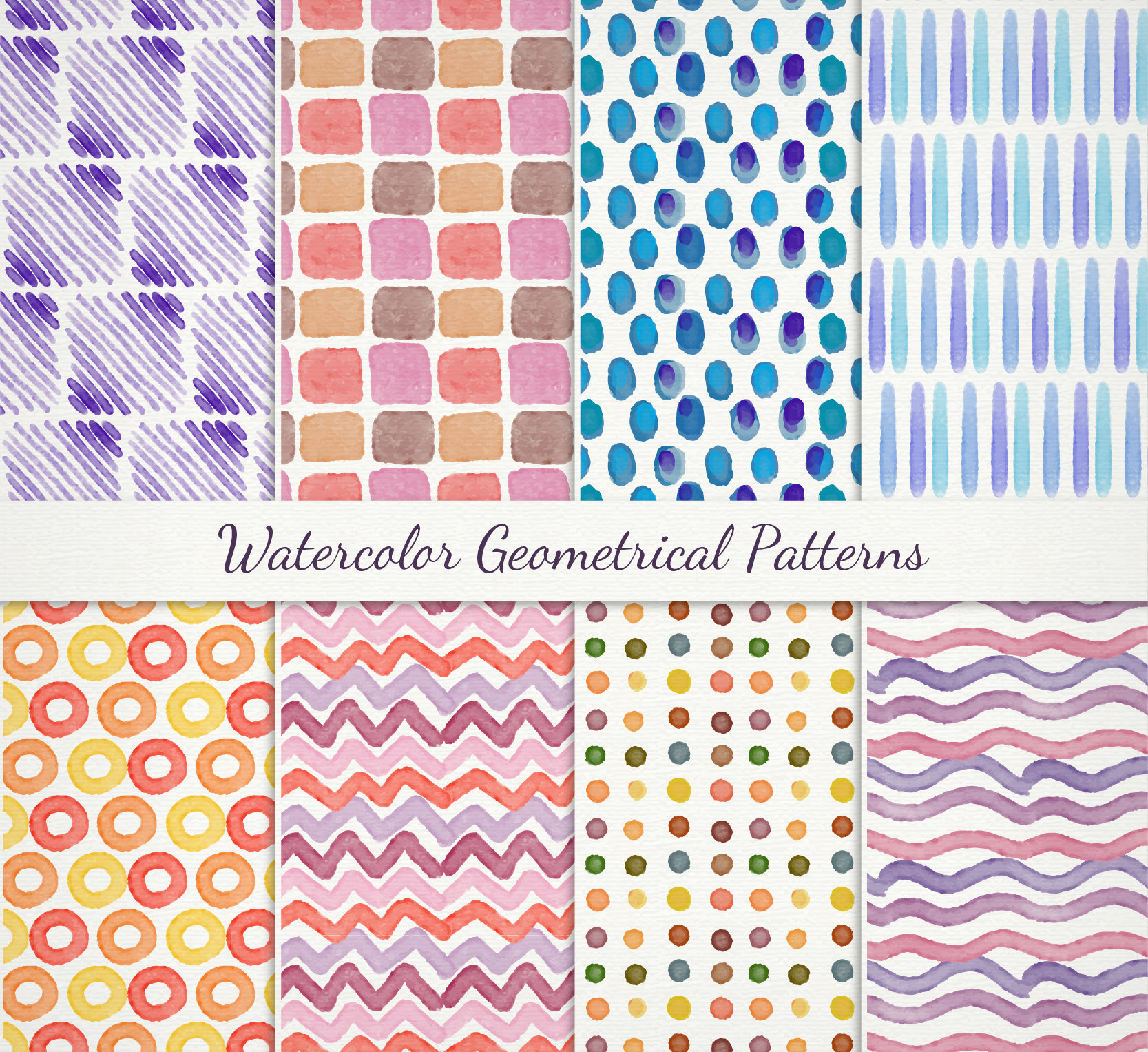 Watercolor Patterns Free