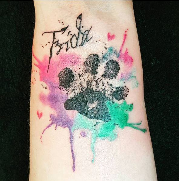 Watercolor Paw Print