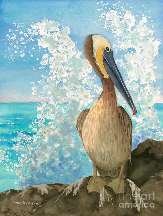 679x900 Pelican On The Rocks