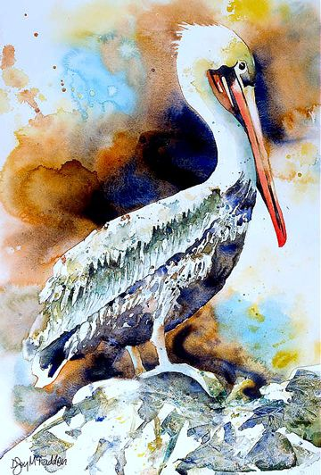 360x532 Pelican By Denise Joy Mcfadden Watercolor Painters