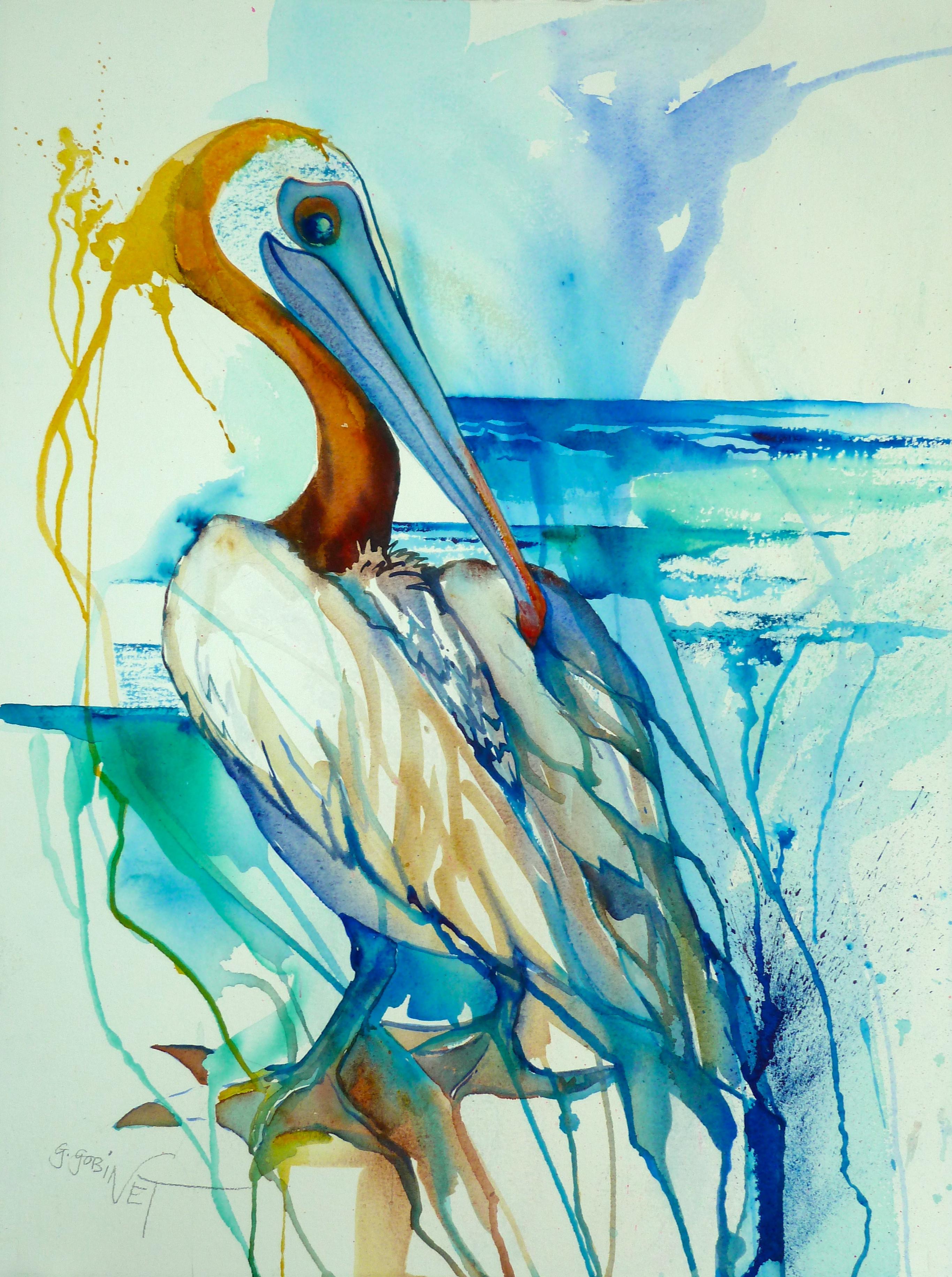 2731x3663 Brown Pelican Watercolor