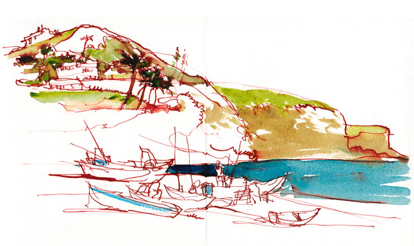600x357 Urban Sketching A Panorama In Pen Amp Ink And Watercolor