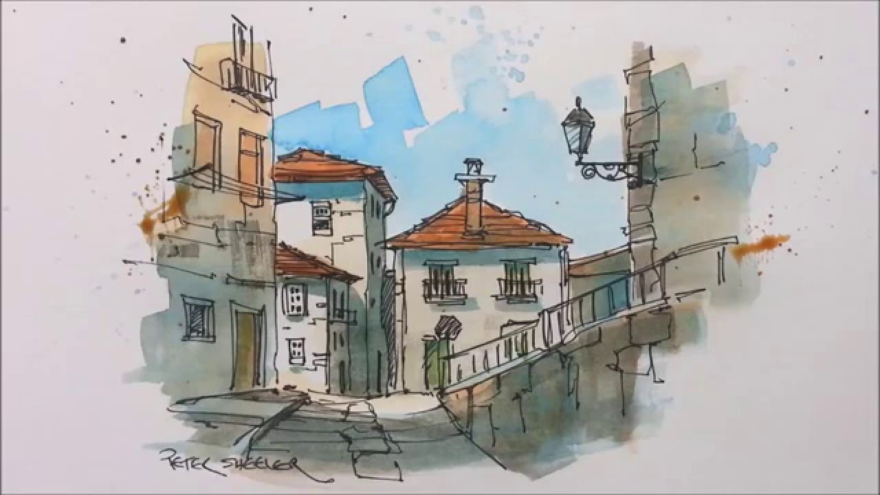 1280x720 A Pen And Wash Watercolor In My Urban Sketching Style. Great For
