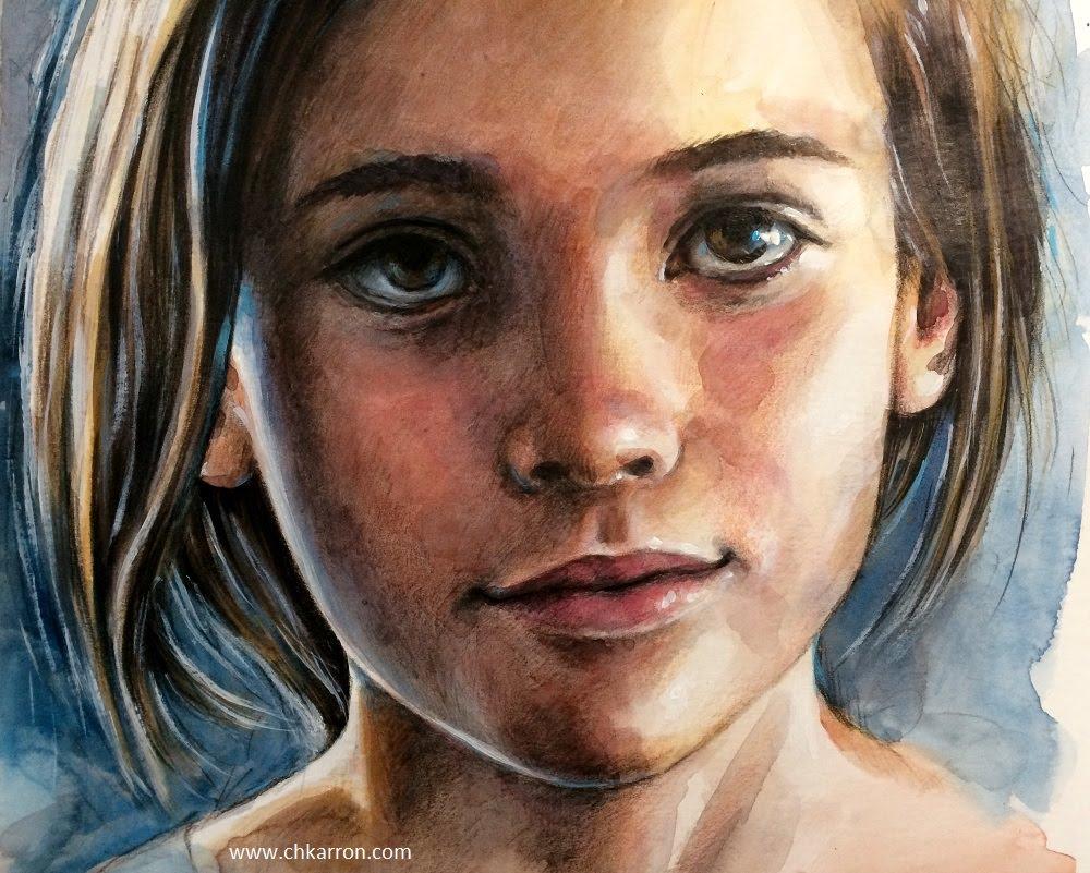 1000x801 Watercolor Pencil Portrait Watercolor And Colored Pencils Portrait