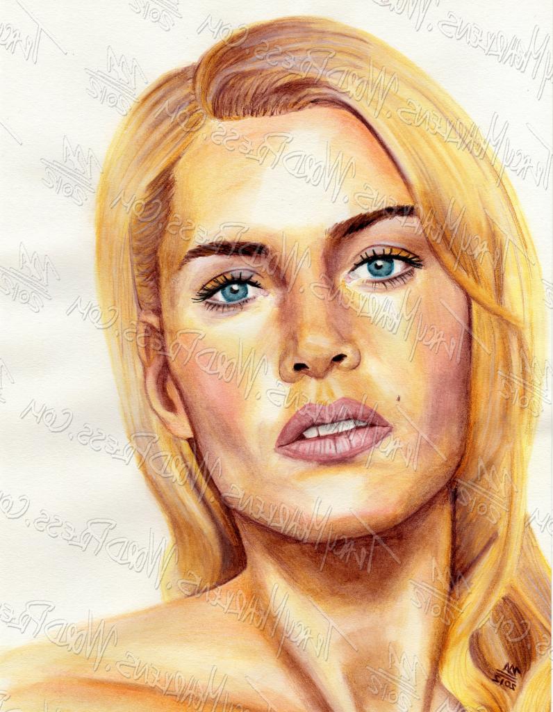 796x1024 Watercolor Pencil Portrait Watercolor Pencil Portrait Kate Winslet