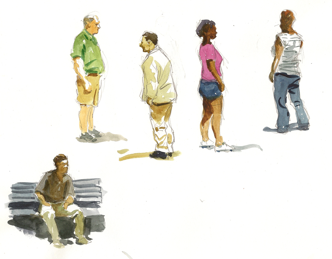 1100x856 Art In A Busy World Sketching People In The Park Developing A