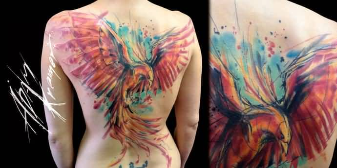 Watercolor Phoenix Tattoo At Getdrawings Com Free For Personal Use