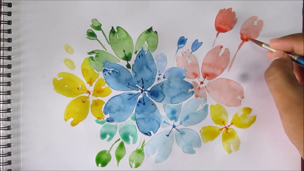 1280x720 Easy Watercolor Painting For Beginners, Easy Flower Painting