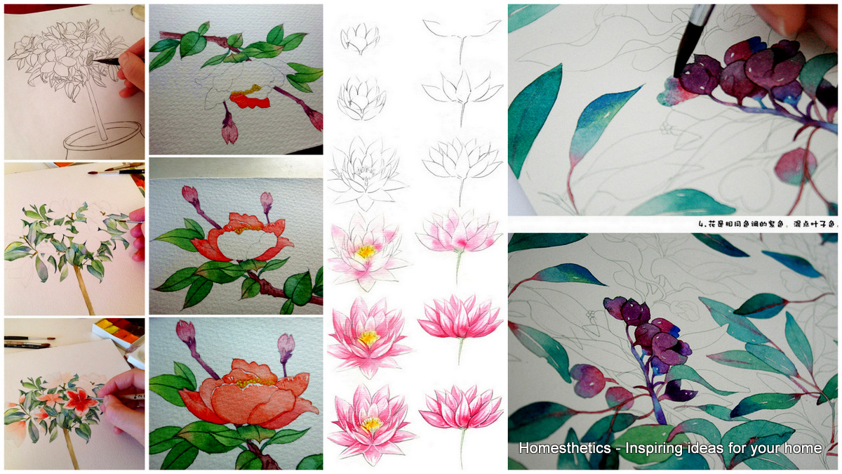 Watercolor Pictures Of Flowers