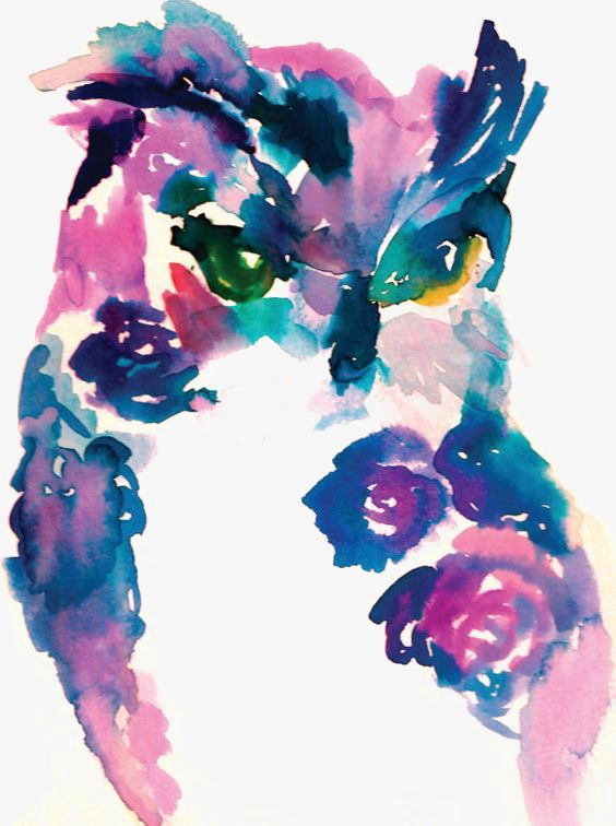 564x756 Owl, Owl Clipart, Hand Painted Owl, Watercolor Owl Png Image And