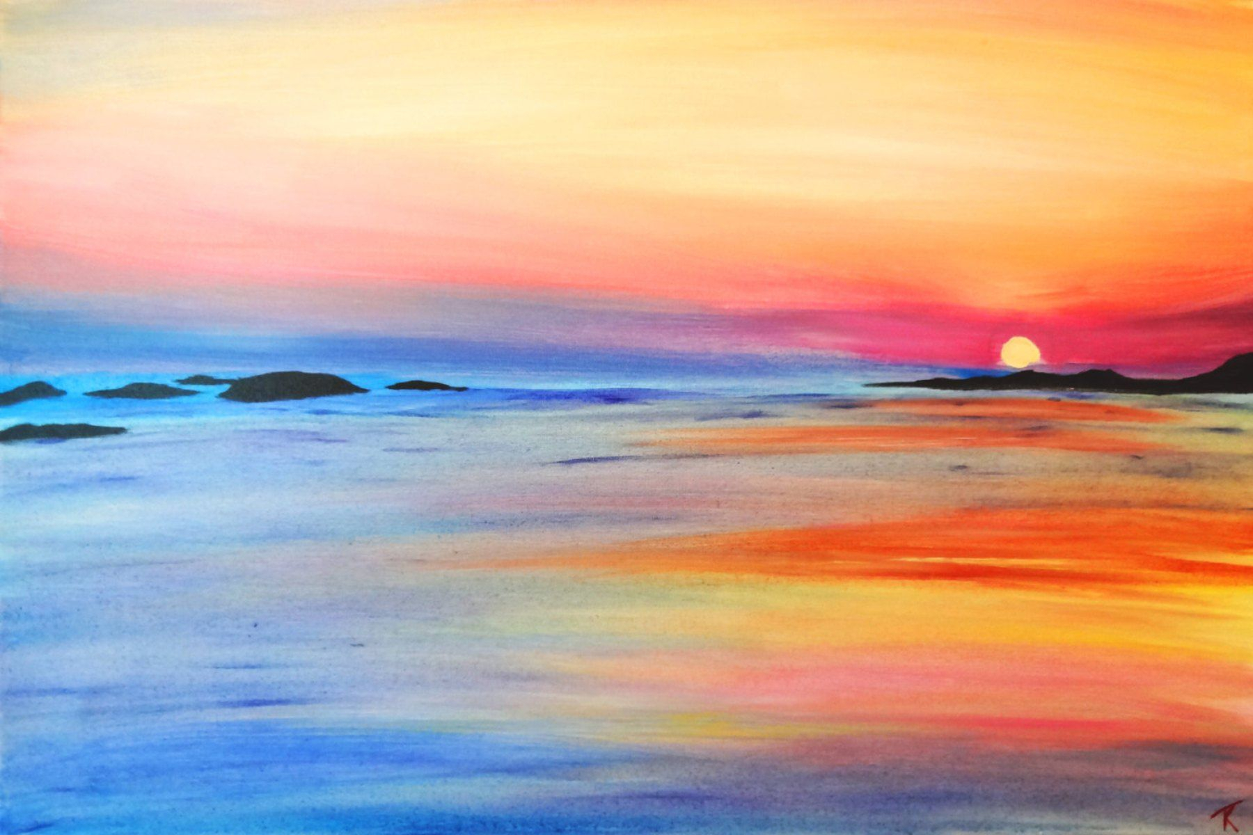 1800x1200 Watercolor Paintings Of Sunsets Easy Watercolor Paintings Of