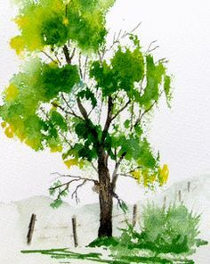 Watercolor Pictures Of Trees