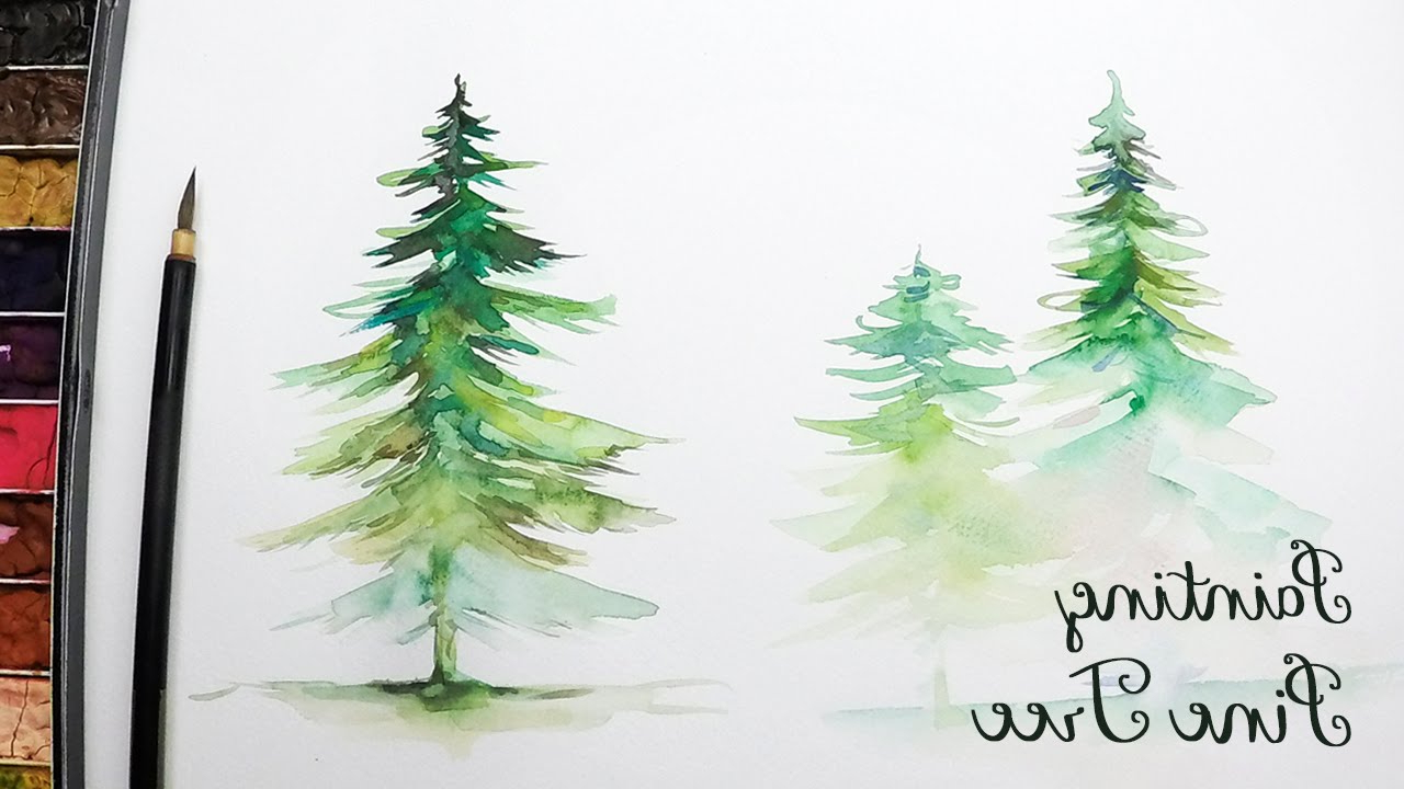 1280x720 Paintings Of Pine Trees Lvl3] How To Paint A Pine Tree In