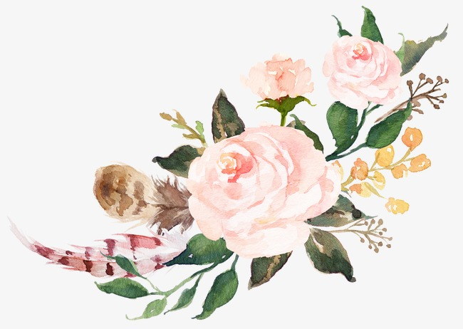 650x462 Watercolor Pink Flowers Sen Department, Watercolor Clipart, Pink