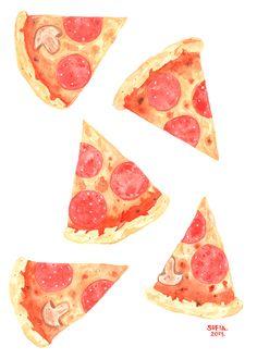 Watercolor Pizza