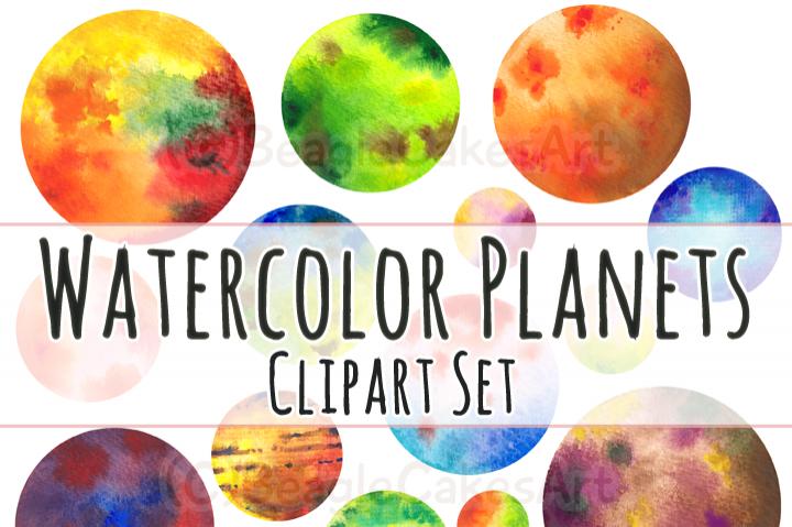 720x479 Watercolor Circles Planets Clip Art By Beaglecakesart