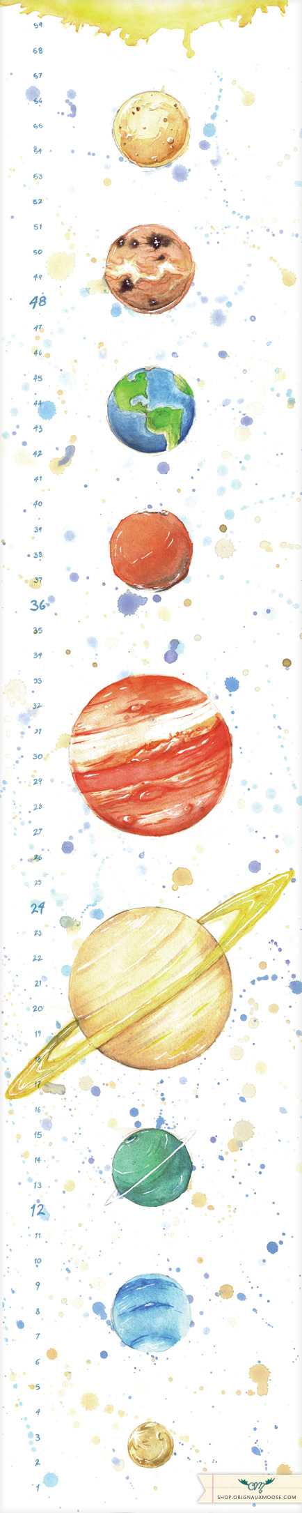 434x2170 Watercolor Planets Interesting Tattoos Collection