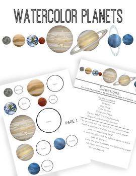 270x350 Watercolor Planets By Littles Teachers Pay Teachers