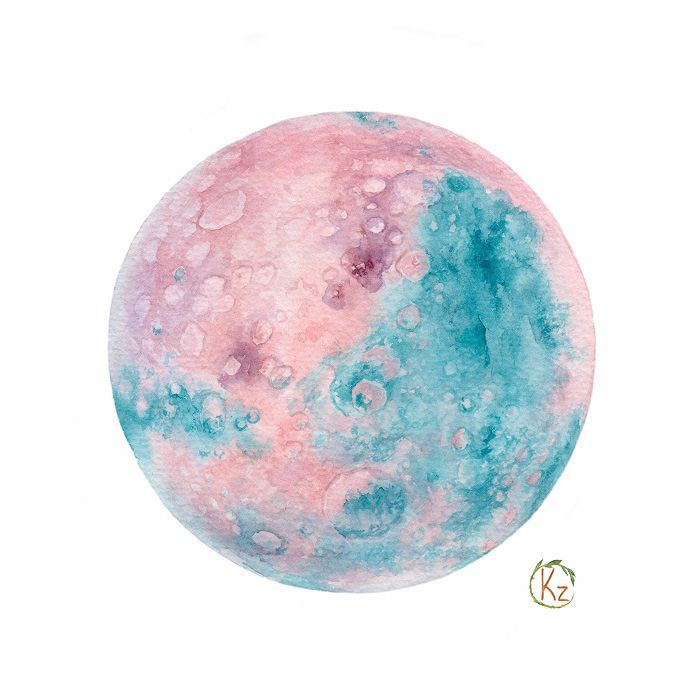 700x700 Watercolor Planets On Behance Canvas Ideas Planets