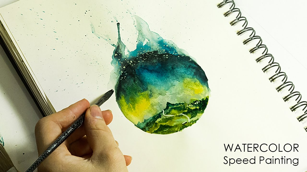 1280x720 Watercolor Speed Painting