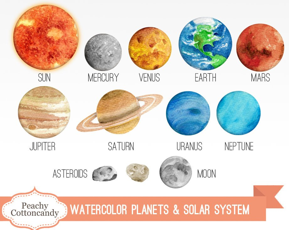 921x732 Collection Of 14 Free Solar System Clipart Watercolor Barbed Wire