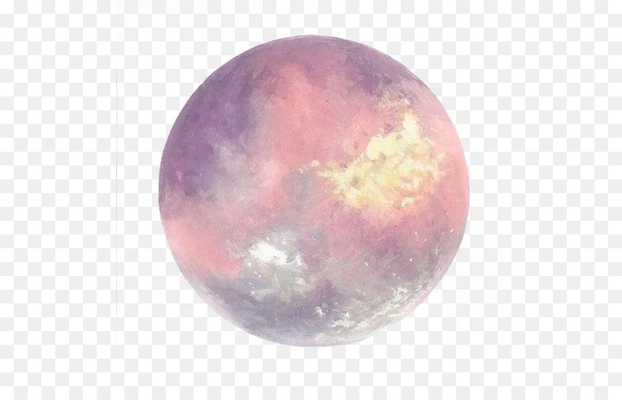 900x580 Full Moon Watercolor Painting Art