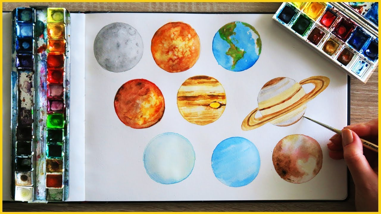1280x720 How To Paint Planets With Watercolor Art Journal Thursday Ep. 15