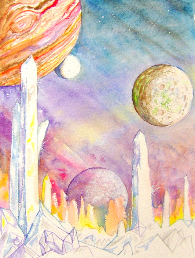 638x846 Images Of Watercolor Planets Space