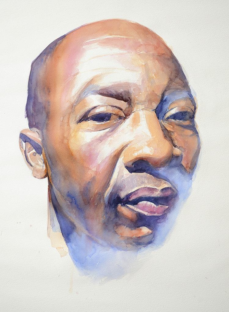 750x1024 Watercolor Portrait. Watercolor Portrait. Fabriano