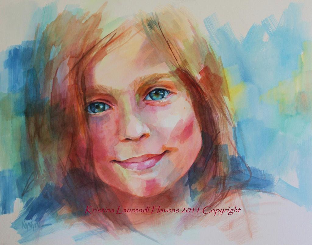 1024x804 Watercolor Child Portrait Custom Watercolor Portrait