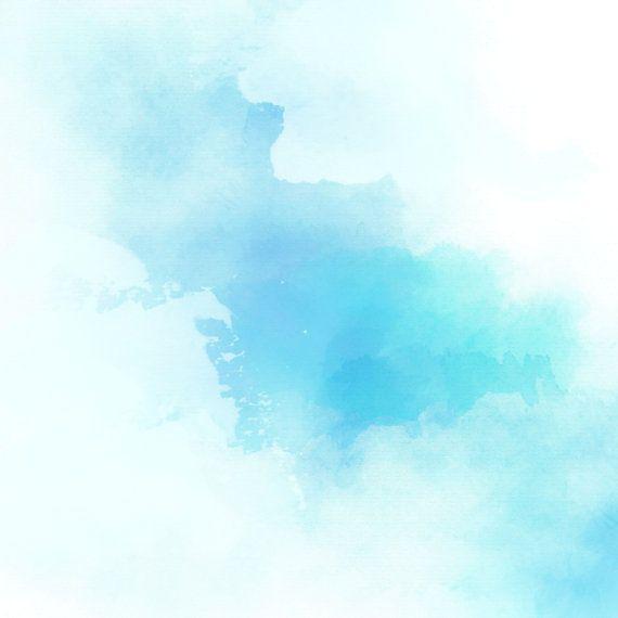570x570 Blue Watercolor Scrapbook Blue, Teal, Aqua, Mint Pastel Wedding