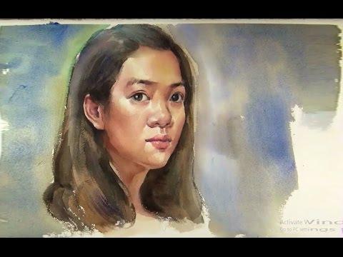 480x360 Watercolor Portrait Painting Demo Girl Portrait