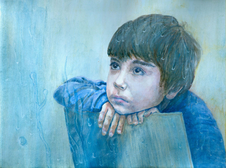 3000x2236 Personalized Custom Painting,children Portrait,portrait,watercolor