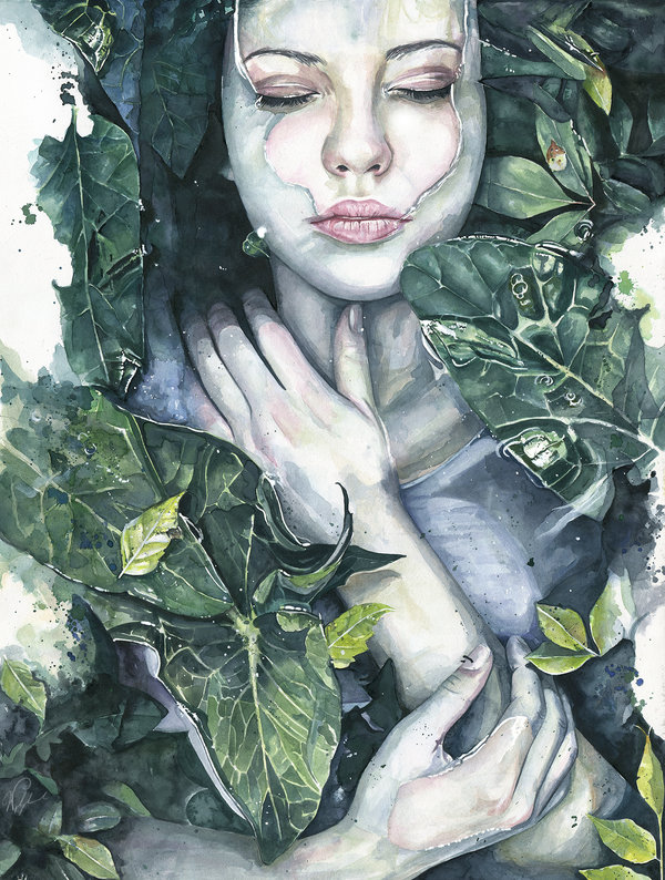 Watercolor Portraits Of Women
