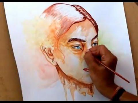 480x360 Simple Watercolor Portrait Painting How To Paint A Portrait In